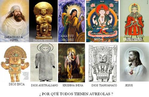Aureolas en todas las religiones