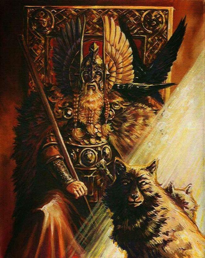 Odin trono cuervo